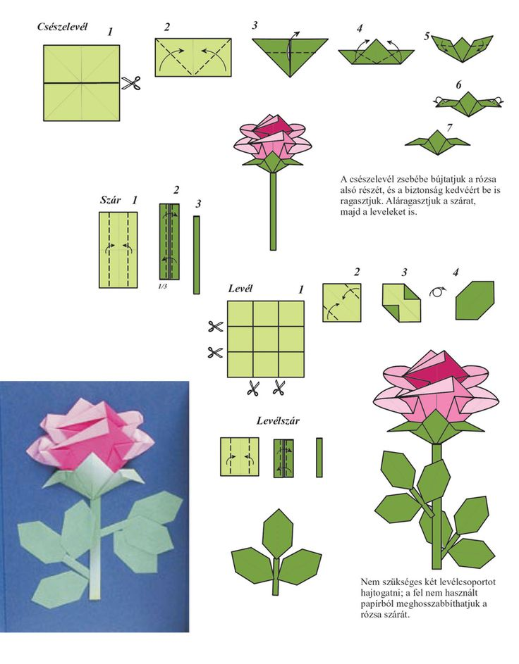 2563 best Origami Flowers images on Pinterest   Origami ... Origami Rose Instructions