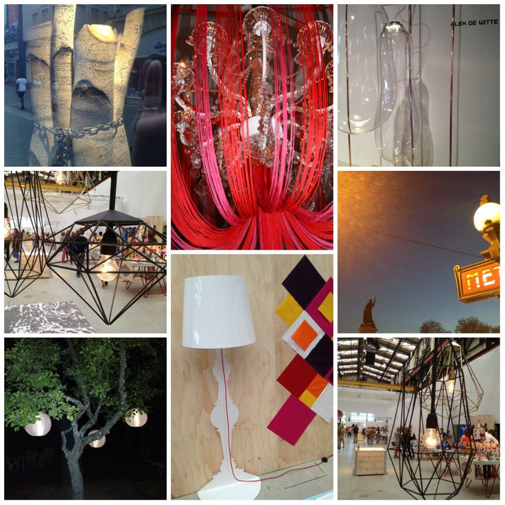 Show up beurs, Alex de Witte, Holiday lights, Metro Paris, Self made Lamp by StylingCentraal, Bordeaux.