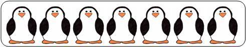 Visueel spel: Patronen leggen met gekleurde strikjes www.makinglearningfun.com Math Ideas for Penguin Theme P