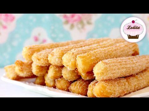Como hacer churros fácil y rápido - Recetas de postres (y panes)