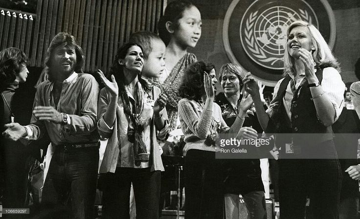 A Gift of Song UNICEF Concert rehersals - January 9, 1979 Barry Gibb, Rita Coolidge, Gilda Radner, John Denver and Olivia Newton John (Photo by Ron Galella/WireImage)