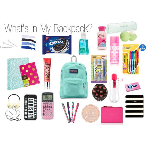 """""""What's in My Backpack"""" by thelemondepartment on Polyvore"""