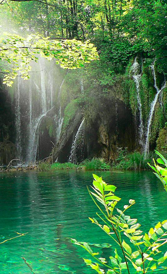 Plitvice Lakes National Park in central Croatia