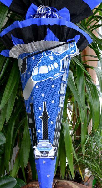 Schultüten - Schultüte Hubschrauber Polizei Zuckertüte - ein Designerstück von Al-art-29 bei DaWanda