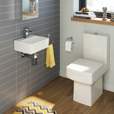 Belfort Toilet & Rita Wall Hung Basin Cloakroom Set  - Small