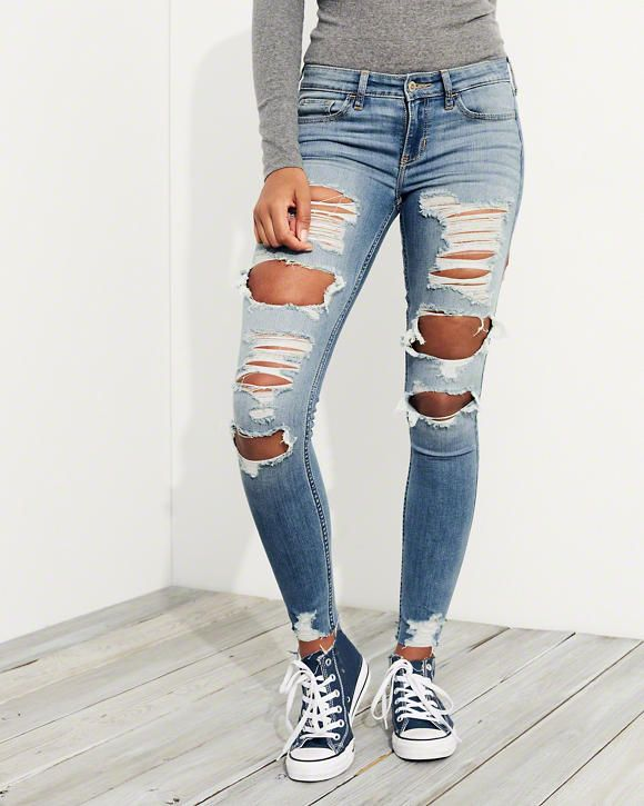 61a8ef1d6b9 Girls Stretch Low-Rise Super Skinny Jeans