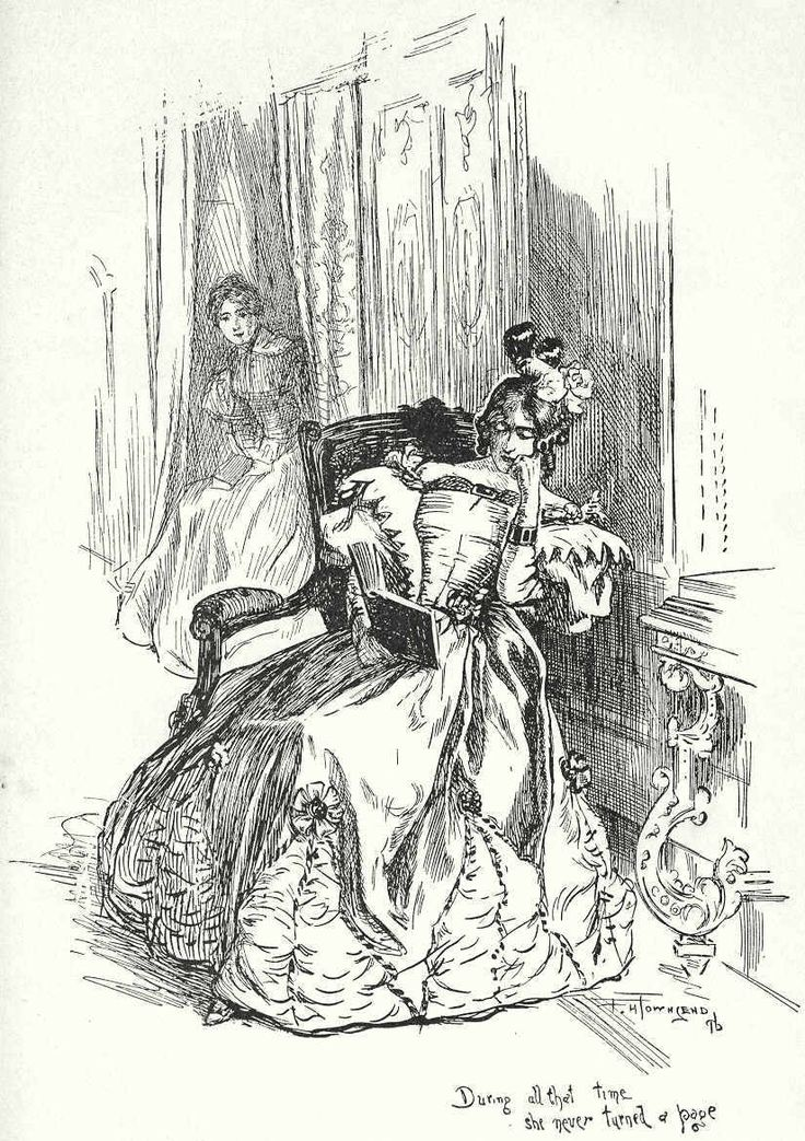 """""""During all that time she (Miss Blanche Ingram) never turned a page"""" Jane Eyre Charlotte Bronte"""