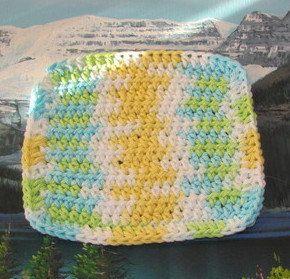 0258 Hand crochet dish cloth 6 by 6 by LandLCandlesandCraft on Etsy