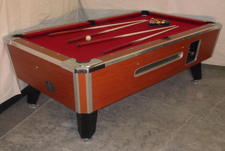 Valley Cougar Bar Size Commercial 7' Coin-op Pool Table Refurbished In Red Zd-8