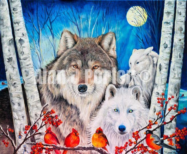 #alanjporterart #kompas #art #animals #paintings #wild #eagle #wolfs #originals #oil #originaldesign #beautifulcolors #whitewolf