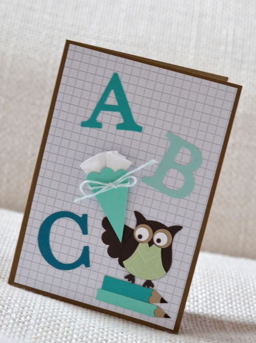 ABC-Einschulungskarte für einen guten Start ins erste Schuljahr. Stampin' Up!