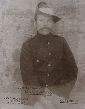 .On this date 18 January 1902, Kommandant Gideon Jacobus Scheepers was shot by the British for his exploits in the Boer War. Some exploits are the stuff of legend, like the time he rode into a town, released all the Boer prisoners, locked up the British magistrate, and hauled down the Union Jack — to the delight of the Boer locals.
