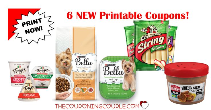 Be sure to print the 6 NEW Printable Coupons that were released this morning! Campbells Chunky soup, Frigo Cheese and Purina Bella coupons!  Click the link below to get all of the details ► http://www.thecouponingcouple.com/6-new-printable-coupons-3-5-18/ #Coupons #Couponing #CouponCommunity  Visit us at http://www.thecouponingcouple.com for more great posts!