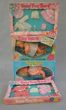Lot 221 - Six Palitoy Tiny Tears dolls, boxed, ages and conditions vary, F-VG. Together with two Palitoy