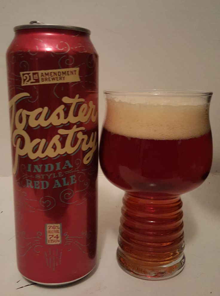 "21st Amendment Toaster Pastry is a 7.6 ABV 74 IBU Amber.  Appearance is reddish and the nose sweet malt and oily hop.  The flavor is well balanced sweet biscuity malt finishing with fruity oily pine hop, moderate and creamy mouthfeel.  Toaster Pastry is the first brew out of 21'st's new brewery, a former toaster pastry factory.  The Calypso and ""experimental"" hops and dark crystal malts lend to a jam filled pastry as intended.  A solid A- and the clear best of what I've had from 21st"