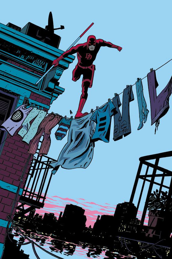 Chris Samnee's hidden title on the cover of Daredevil #26. | The 30 Greatest Comic Book Moments Of 2013