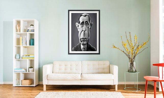 Humphrey - Rob Snow | Creative - Poster in Wooden Frame art | decor | wall art | inspiration | caricature | home decor | idea | humor | gifts