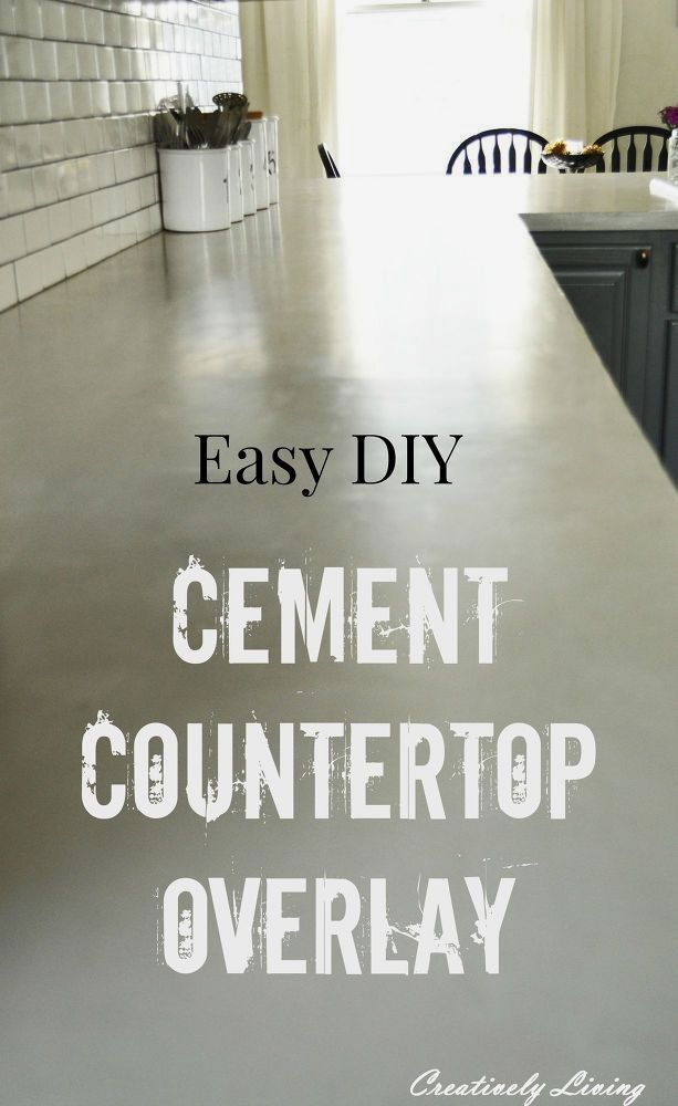 Here it is! The post on our Cement Countertop Overlay project. It's Ideas Countertop Pinterest Kitchenllaminate on