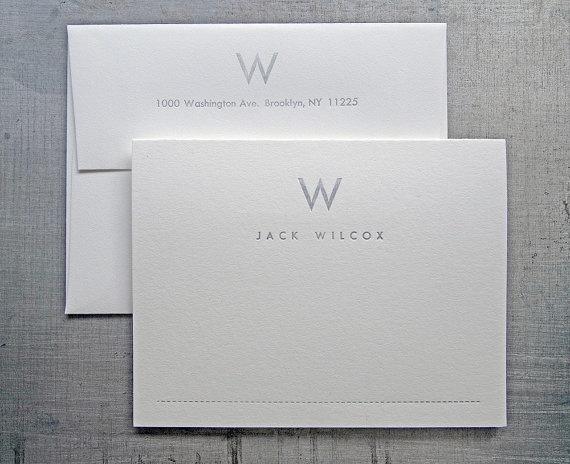 Personalized Letterpress Stationery  MidCentury by seabornpress, $75.00