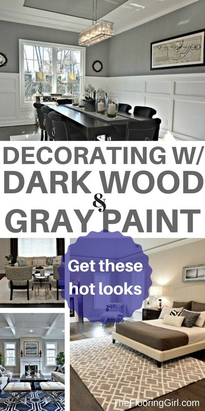 Decorating rooms with dark floors and gray walls