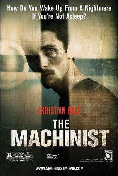 El maquinista (2004), del director Brad Anderson. Escalofriante interpretación de Christian Bale.