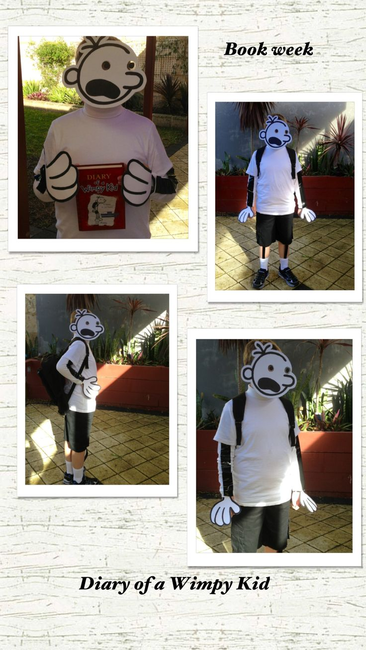 Book week costume Diary of a Wimpy Kid