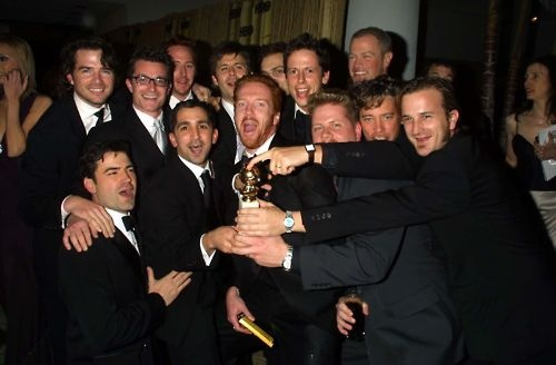 Flawless cast at the Golden Globes 2002 - Band of Brothers - one of my favorite series EVER