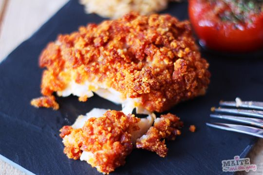 Dos de cabillaud, crumble de chorizo / parmesan | Maite and the Gang