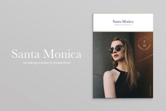 Santa Monica Magazine by Ruben Stom on @creativemarket
