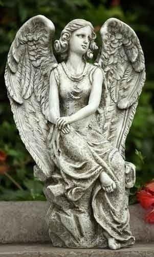 Roman 16 Inch Sitting Angel Garden Statue By Roman 36 48