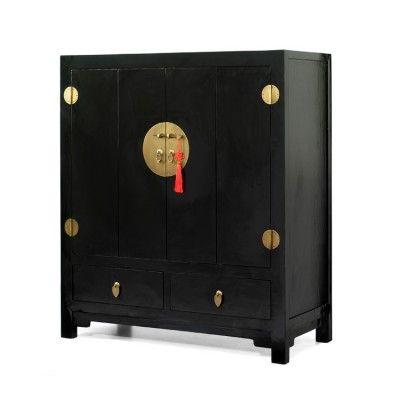 £1479 Chinese Black Lacquer TV Cabinet #4livinguk