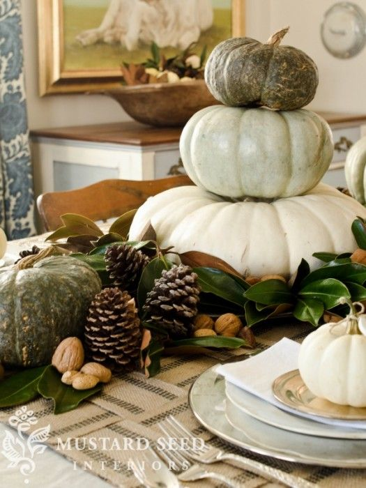 cheap women coats miss mustard seed  decorating with magnolia leaves  pinecones  nuts  and pumpkins    natural tablescape    love with dried hydrangea  pheasant feathers  and dried okra too for a really Southern flare