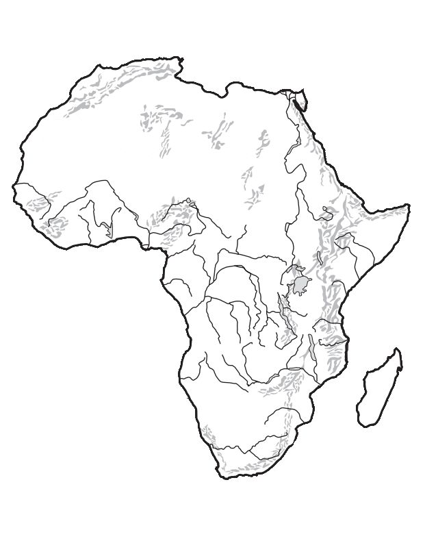 Outline Map Of Africa blank outline physical map of europe