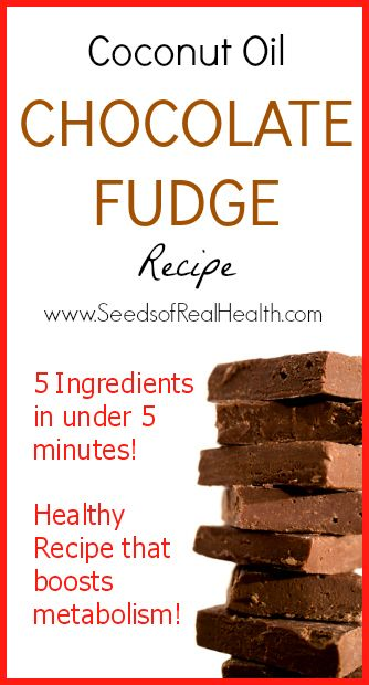 GF/Paleo Coconut Oil Chocolate Fudge Recipe that actually helps boost metabolism! ?www.SeedsOfRealHealth.com