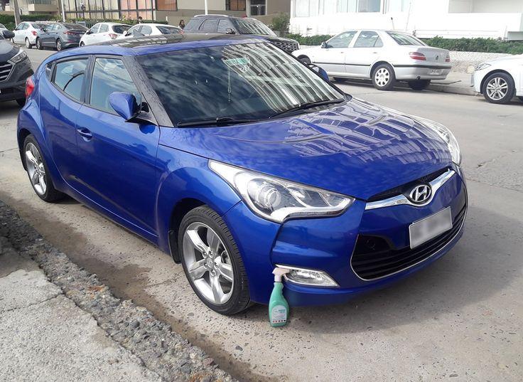 El #Hyundai Veloster brilla de manera Espectacular con Magic Clean Car deja Tu Auto Limpio y brillante de una sola vez y sin utilizar Agua