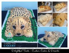 how to make a 3D cheetah cake - Google Search