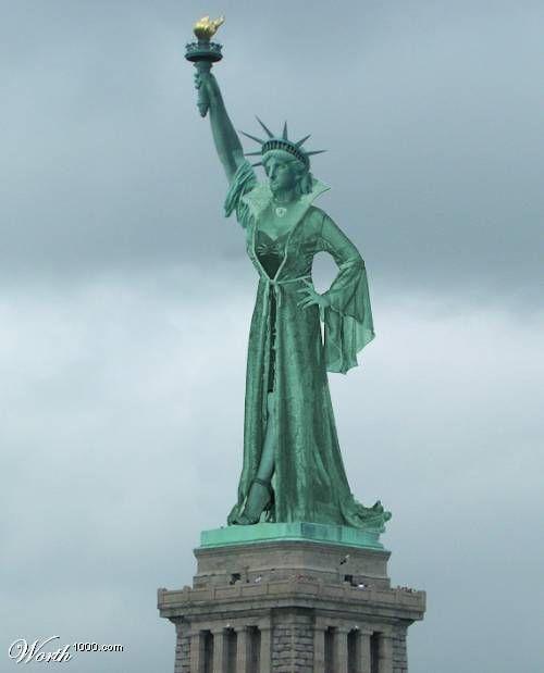 Какой могла бы быть статуя свободы!:) (32 фото) | Статуя ...