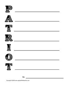 memorial day printables for kindergarten