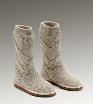 UGG Classic Argly Knit 5879 Boots Sand For Sale In UGG Outlet