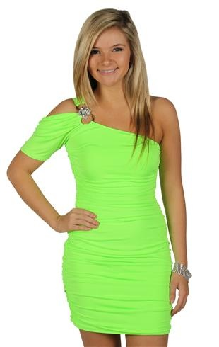 Lime Green Club Dresses 138 best want f...