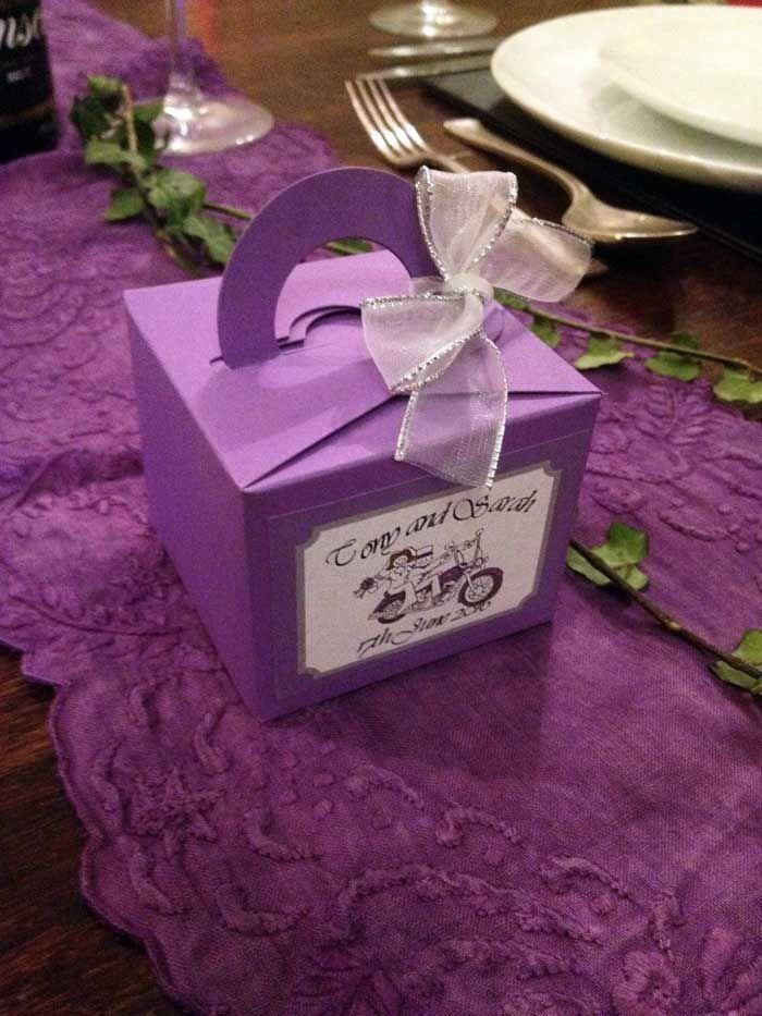 Purple Harley Davidson Favour Boxes