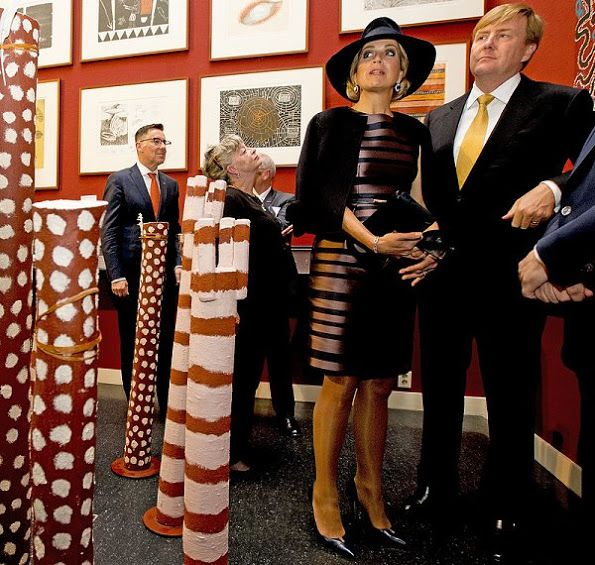 King Willem-Alexander and Queen Maxima opened Mapping Australia exhibition at the Aboriginal Art Museum