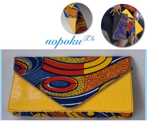 Sacs et sacs à main jaune sac à main imprimé africain par Nopoku