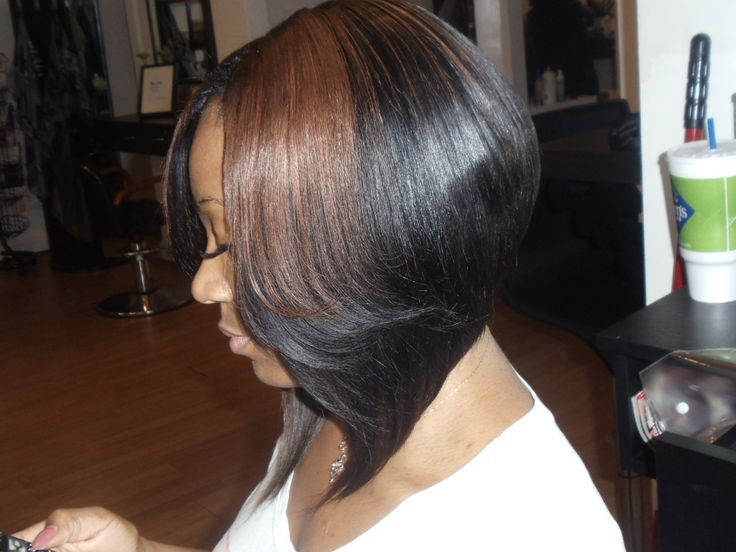 sew in weave hairstyles for black women  Best Picture bob weave