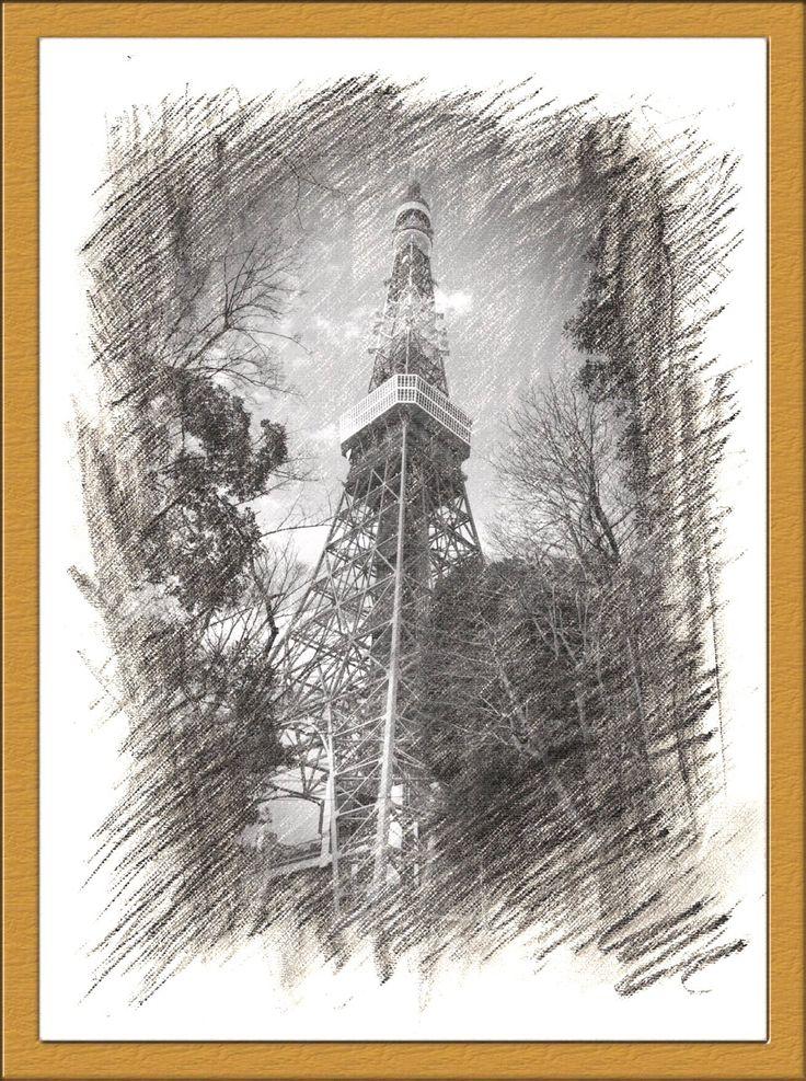2016.03.25 #東京タワー  今回は、こんな風に加工してみました。