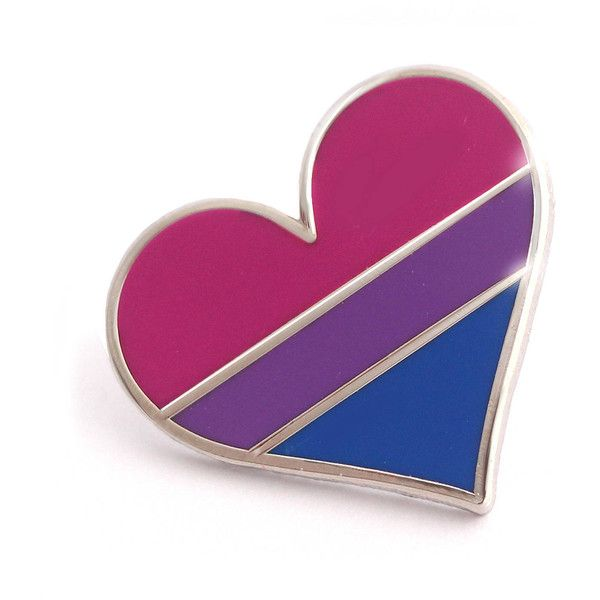 b14cd3094 Bisexual pride pin, gay lapel pin, bisexual flag pin, heart enamel... ($10)  ❤ liked on Polyvore featuring jewelry, brooches, heart jewelry, heart  jewellery ...