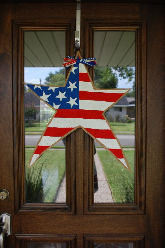 4th Of July Door Hangers American Flag