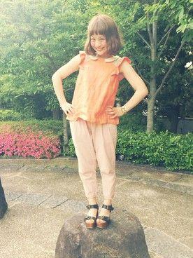 安中亜美│flowerのTシャツ・カットソーコーディネート