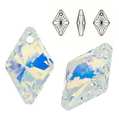 6320 Rhombus 14mm Crystal AB  Dimensions: 14,0 mm Colour: Crystal AB 1 package = 1 piece
