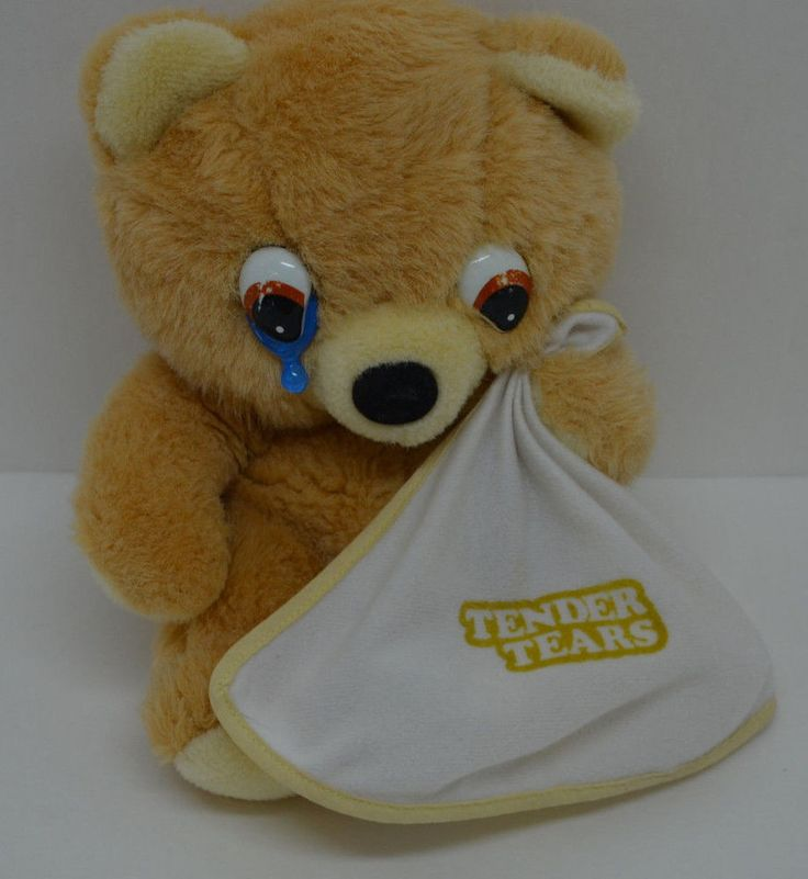 Toys And Tears : Tender tears teddy bear holding blanket crying plush tb